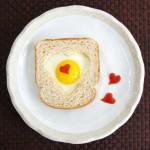 saint valentin petit déjeuner oeufs
